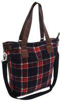 Soul Cal SoulCal Womens Ladies Tartan Tote Bag Shopper Shoulder Travel Luggage Accessory