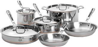 All-Clad Ten-Piece Copper Core Stainless Steel Cookware Set - Induction Ready
