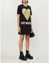 Love Moschino Graphic-print cotton-jersey mini dress