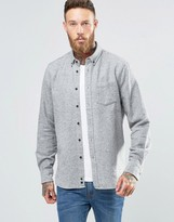 Penfield Ridgley Fleck Flannel Shirt Button In Regular Fit Brushed Cotton