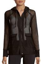 Gottex Honeycomb Mesh Hooded Jacket