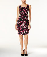 Kasper Jacquard Printed Sheath Dress