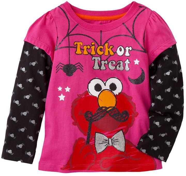 "Sesame Street elmo ""trick or treat"" mock-layer tee - toddler"