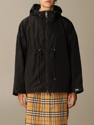 Burberry Bacton Jacket In Taffeta With Hood And Logo