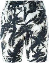 Steffen Schraut palm print bermuda - women - Polyester/Viscose - 34