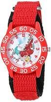 Disney Girl's 'Ariel' Quartz Plastic and Nylon Watch, Color:Red (Model: W002905)
