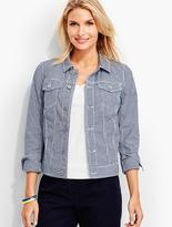 Talbots The Classic Denim Jacket-Gingham Print