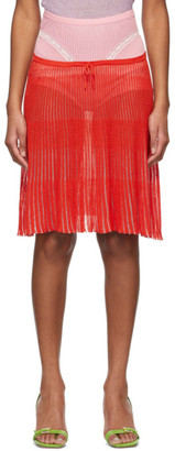 Cormio Pink and Red Daria Skirt