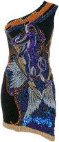 Balmain one-shoulder beaded dress