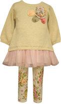 Bonnie Baby Baby Girls' 2-Pc. Sweater & Floral-Print Leggings Set