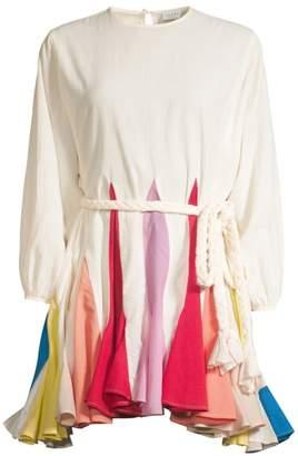 Rhode Resort Ella Colorblock Fluted Hem Dress