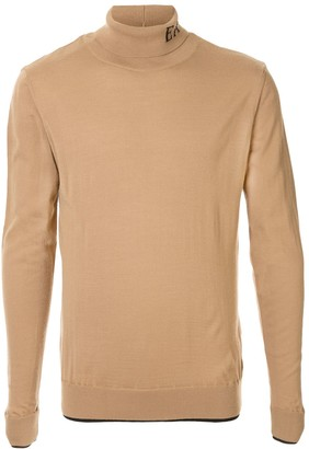 Emporio Armani logo knitted roll-neck jumper
