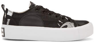 McQ Black and White Plimsoll Platform Low Sneakers