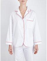 Bodas Cotton-sateen pyjama shirt
