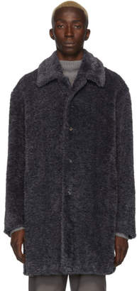 Deveaux New York Grey Faux-Fur Coat