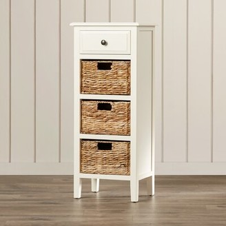 Beachcrest Home Santa Cruz Solid Wood End Table with Storage Color: Distressed White