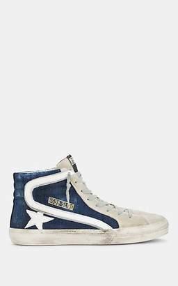 Golden Goose Men's Slide Denim & Suede Sneakers - Dk. Blue