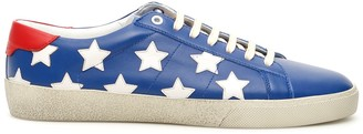 Saint Laurent SL/06 STAR SNEAKERS 40 Blue, White, Red Leather
