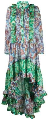 Evi Grintela Paisley Print Ruffle Dress