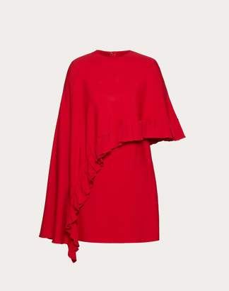 Valentino Double-faced Viscose Dress With Ruffles Women Red 38