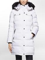 Calvin Klein Faux Fur Down Hooded Jacket