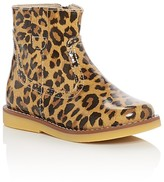 Elephantito Girls' Madison Leopard Print Booties - Walker, Toddler