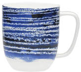 David Jones Shibori Blue Line Mug