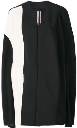 Rick Owens Colour Block Cape Coat