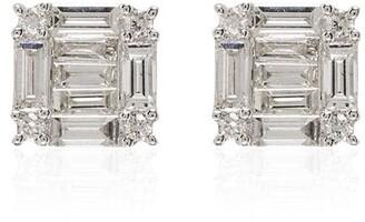 Shay 18kt White Gold Square Diamond Earrings