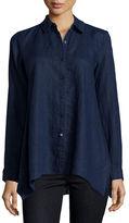 Eileen Fisher Handkerchief Linen Boxy Shirt