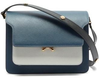 Marni Trunk Medium Saffiano Leather Bag - Navy Multi