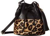 Just Cavalli Cheetah Bucket Bag with Tassel Handbags