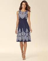 Soma Intimates Sleeveless Smocked Keyhole Short Dress