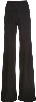Rick Owens High Waist Flared Trousers