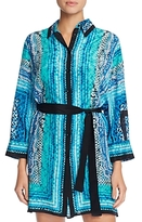 Gottex Snake Charmer Silk Shirt Dress Cover-Up