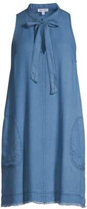 Splendid Crosshatch Tie Chambray Shift Dress
