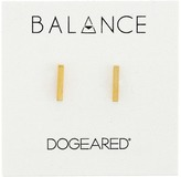 Dogeared Balance Flat Bar Stud Earrings Earring