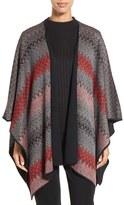 Ming Wang Reversible Knit Poncho Jacket