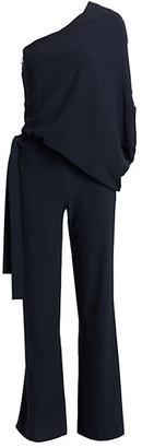 Halston Asymmetric Wide-Leg Jumpsuit