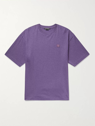 Acne Studios Logo-Appliqued Melange Cotton-Jersey T-Shirt
