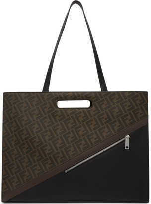 Fendi Brown Forever East/West 197 Tote