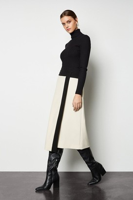 Block Colour Wrap Skirt