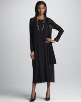 Eileen Fisher Silk Double-Layer Dress, Women's
