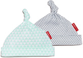 Skip Hop Light Blue & Gray Petite Triangle Beanie Set