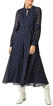 Hobbs London Piper Polka Dot Midi Dress