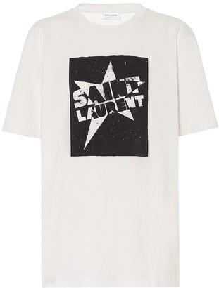 Saint Laurent Logo cotton-jersey T-shirt