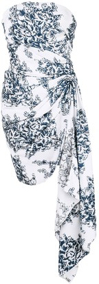 Oscar de la Renta floral fil coupé cocktail dress