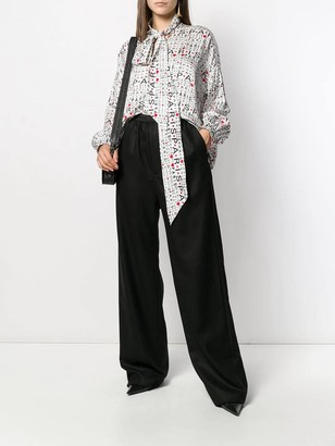 Balenciaga Logo High Waisted Pants