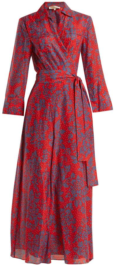 Diane von Furstenberg Callow-print cotton-blend wrap dress