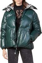 Sandro Over Puffer Down-Filled Hooded Jacket